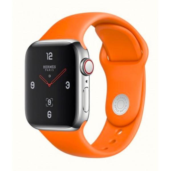Apple Watch Series 4 Hermes GPS + LTE 40mm Stainless Case w. Orange Sport B. (MUFY2)