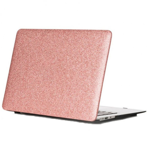 Чехол накладка MacBook Air 13 (2018-2020) DCC Picture Glitter (pink)