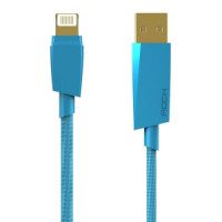 Кабель Apple Lightning  (USB 2.5 m) (Ткань) (Синий)