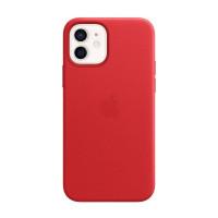 Чехол iPhone 12 mini Apple Leather Case (Red)