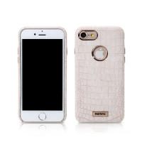 Чехол Накладка Remax Maso case для iPhone 7 Plus white  (Белый)