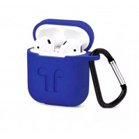 Чехол для AirPods Silicone Case with Logo and Carbine (royal blue)