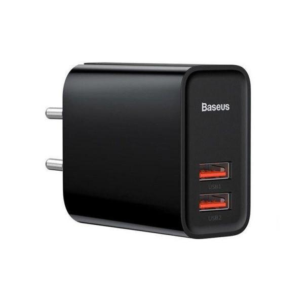 Сетевое зарядное устройство Baseus Speed Quick Charger 2USB/30W/QC/PD (Black)