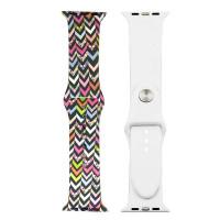 Ремешок-браслет для Apple Watch 42mm Silicone Sport Band picture (stripes mix)