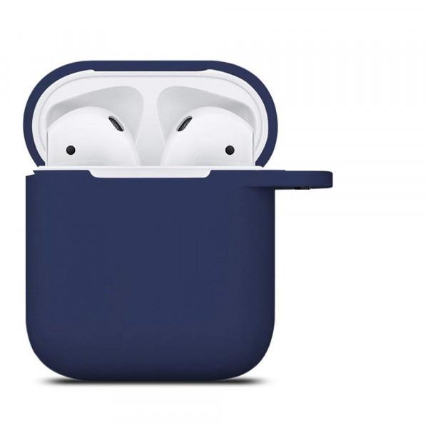 Чехол для AirPods Silicone Case (dark blue)