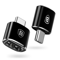 Переходник Baseus USB Female To Type-C Male Adapter Converter (gray)