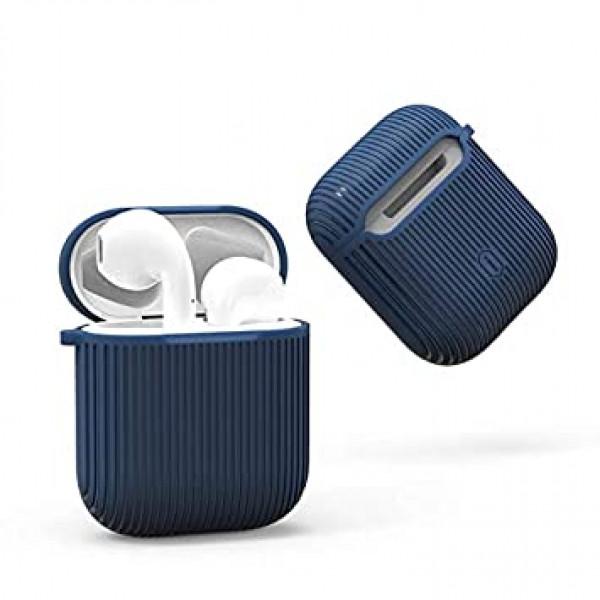 Чехол для AirPods Wiwu Shell Strip Case (blue)