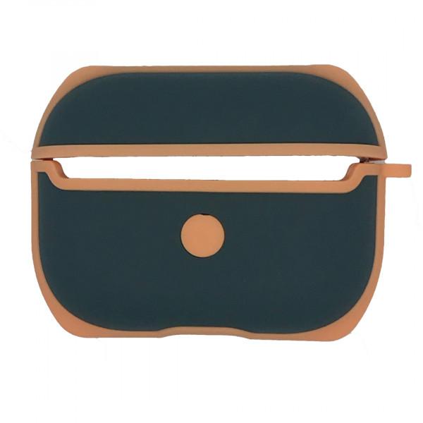 Чехол для AirPods Pro WiWU Silicone Case C002 (Orange Green)