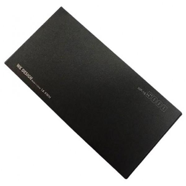 Портативное зарядное устройство Power Bank WK 5000mAh WP-014 (black)