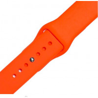 Ремешок-браслет для Apple Watch 42mm Silicone Band (orange)