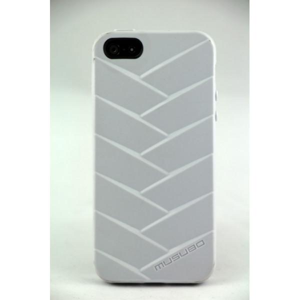 Чехол Накладка для iPhone  5/5S MUSUBO MYMMY (Белый) (Силикон)