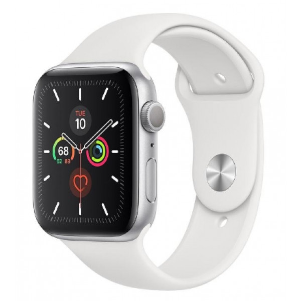 Apple Watch Series 5 LTE 44mm Silver Aluminum w. White b.- Silver Aluminum (MWVY2, MWWC2)
