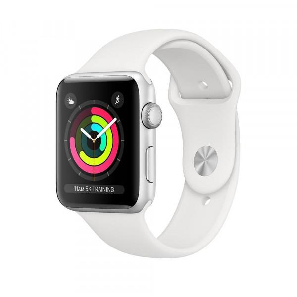 Apple Watch Series 3 GPS 38mm Silver Aluminum w. White Sport band (MTEY2)