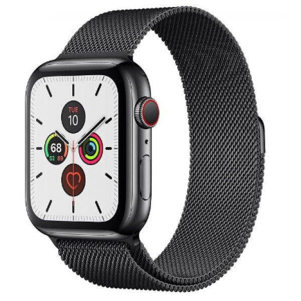 Apple Watch Series 5 LTE 44mm Space Black Steel w. Space Black Milanese Loop - Space Black Steel (MWW82, MWWL2)