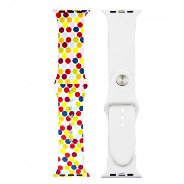 Ремешок-браслет для Apple Watch 38mm Silicone Sport Band picture (bubbles mix)