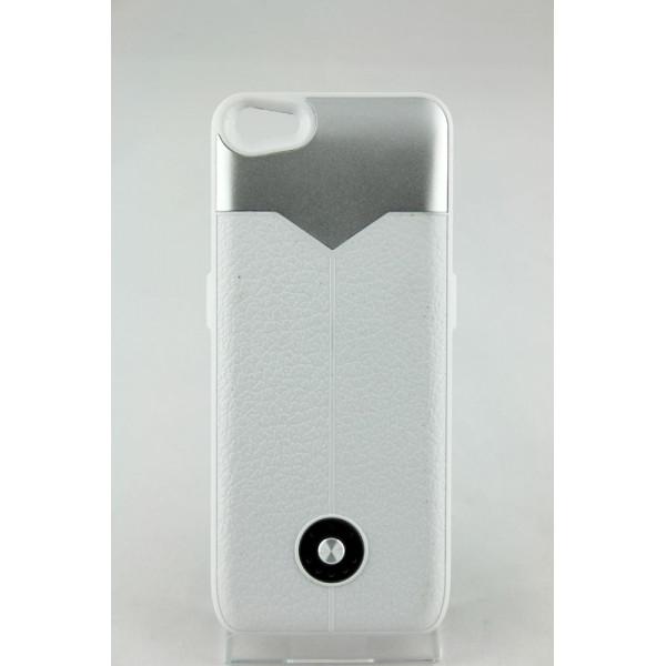 Чехол Накладка для iPhone 5/5S Power Cace Battery(3000MAh)  (белый) (Полиулетан)