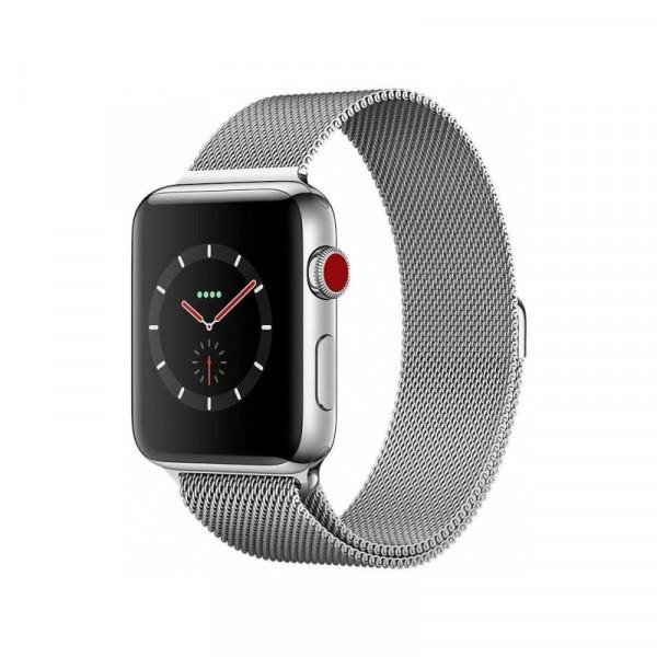 Apple Watch Series 3 GPS + Cellular 42mm Stainless Steel w. Milanese L. (MR1U2)