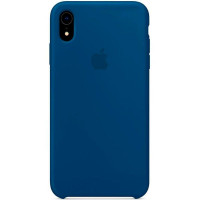 Чехол Накладка для iPhone Xr Apple Silicon Case (Blue Horizon) (Полиулетан)