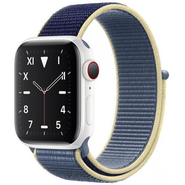 Apple Watch Series 5 LTE 40mm White Ceramic Case with Alaskan Blue Sport Loop (MX5V2)