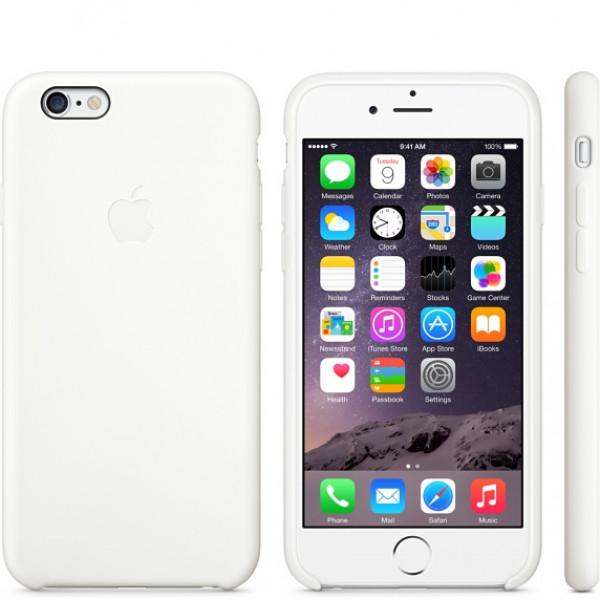 Чехол Накладка для iPhone 6 Apple Silicone Case High Copy (Белый) (Силикон)