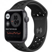 Apple Watch Nike SE GPS 44mm Space Gray Aluminum Case w. Anthracite/Black Nike Sport B. (MYYK2)