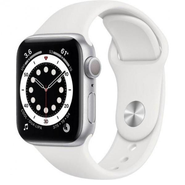 Apple Watch Series 6 GPS 40mm Silver Aluminum Case w. White Sport B. (MG283)
