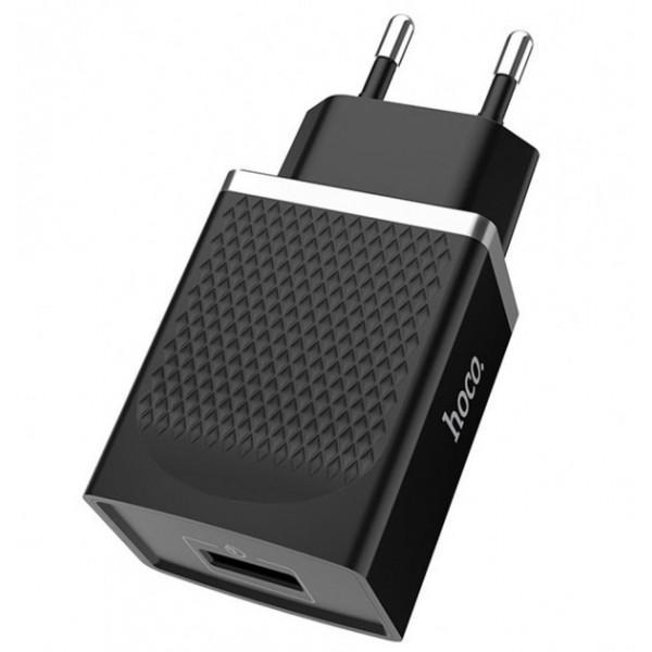 Сетевое зарядное устройство Hoco 1USB C42A QC 3.0 (black)