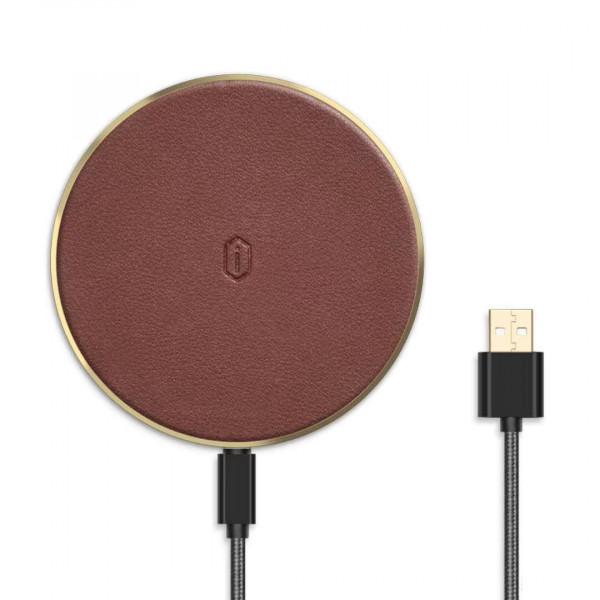 Безпроводное зарядное устройство WiWU Quantus Wireless Charger QC100 (Brown)