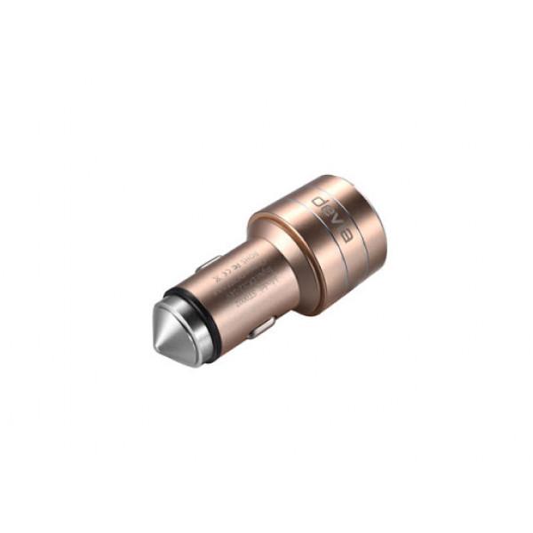 Автомобильное зарядное устройство Devia Joy USB Port Charger 3.1A (Золотой)