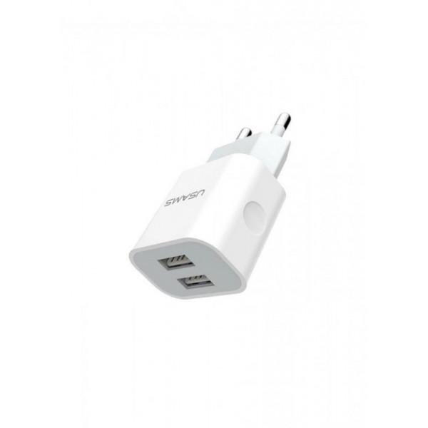 Сетевое зарядное устройство Usams Travel 2,4A US-CC023 (whie)