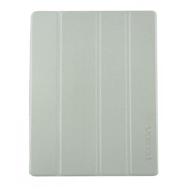 Чехол Книжка для iPad 2/3/4  TELSDA Smart Case (Белый) (Преcсованая кожа)