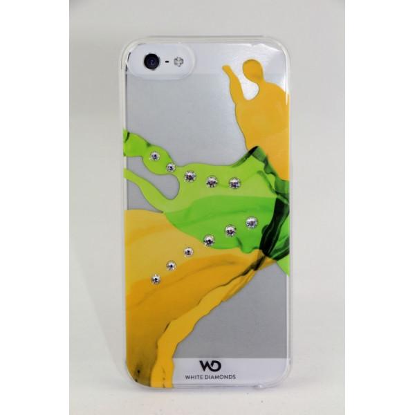 Чехол Накладка для iPhone 5/5S WD Liquids Mango SWAROVSKI ELEMENT(Жёлтый) (Пластик)