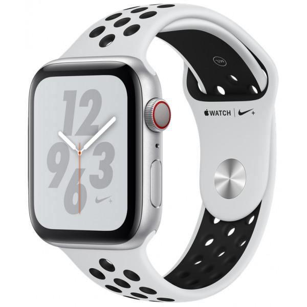 Apple Watch Nike+ Series 4 GPS + LTE 40mm Silver Alum. w. Platinum/Black Nike Sport b. Silver Alum. (MTX62)