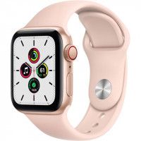 Apple Watch SE GPS + Cellular 40mm Gold Aluminum Case with Pink Sand Sport B. (MYEA2)