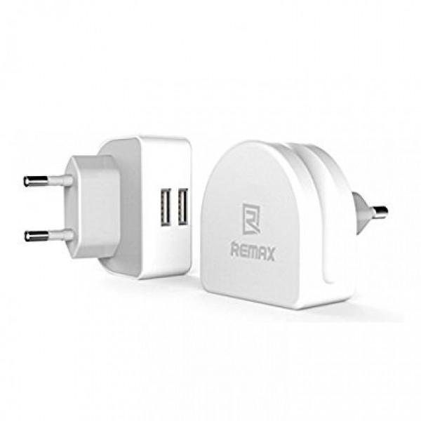 Сетевое зарядное устройство REMAX Moon Dual 2.1 Amp (Белый)