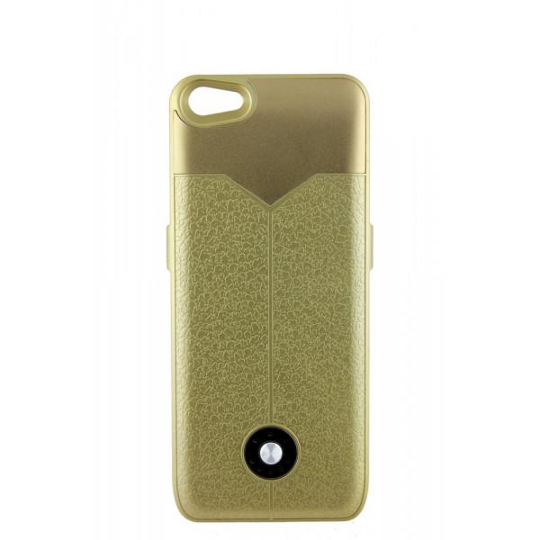 Чехол Накладка для iPhone 5/5S Power Cace Battery(3000MAh)  (золотой) (Полиулетан)