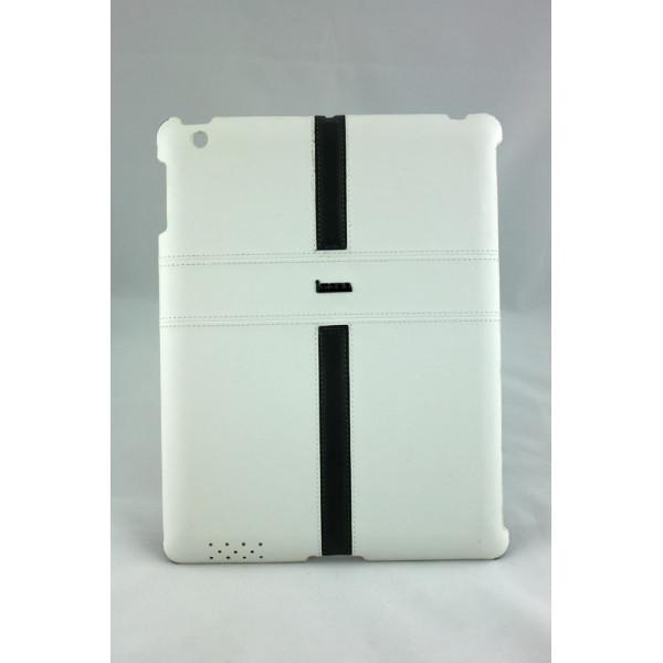 Чехол Накладка для iPad 2/3/4 i Mobo (белый) (кожа)