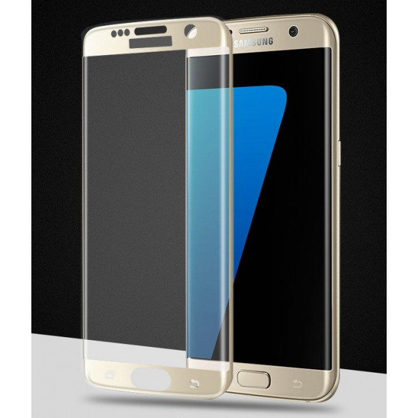 Стекло защитное  для Samsung Galaxy S7 Edge  Veron 2.5D tempered with rounded edges (gold)