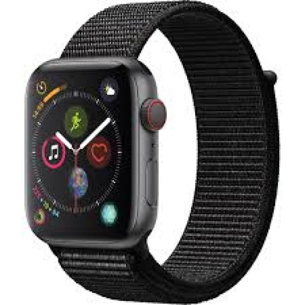 Apple Watch Series 4 GPS + LTE 44mm Gray Alum. w. Black Sport l. Gray Alum. (MTVV2)