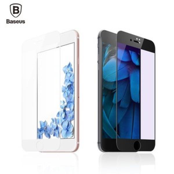 Защитое стекло  iPhone 7  Baseus PET Soft Fosted 3D Glass 0.23mm (white)