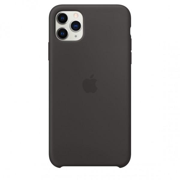 Чехол Накладка для iPhone 11 Pro Max Apple Silicon Case (Black) (Полиулетан)