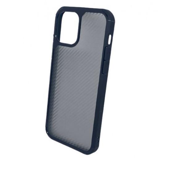 Чехол iPhone 12/12 Pro iPaky Carbon Case (Black Transperent)