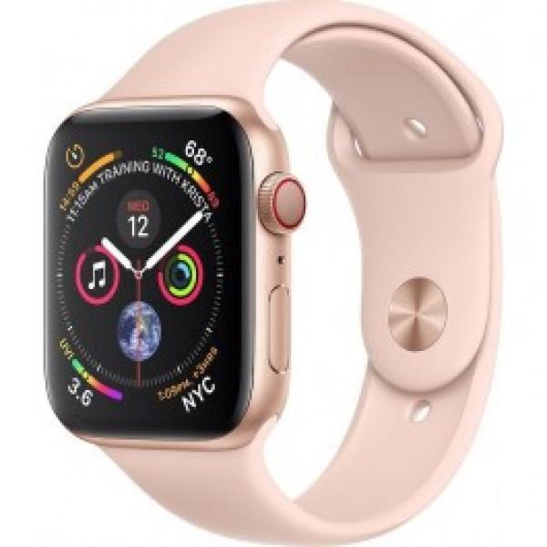 Apple Watch Series 4 GPS + LTE 44mm Gold Alum. w. Pink Sand Sport b. Gold Alum. (MTV02)