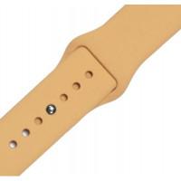 Ремешок-браслет для Apple Watch 42mm Silicone Band (gold)
