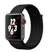 Apple Watch Nike+ Series 3 GPS + Cellular 42mm Space Gray Aluminum w. Black/Pure PlatinumSport L. (MQMH2)