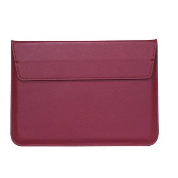 Чехол-конверт MacBook 15 PU seleeve bag (wine red)