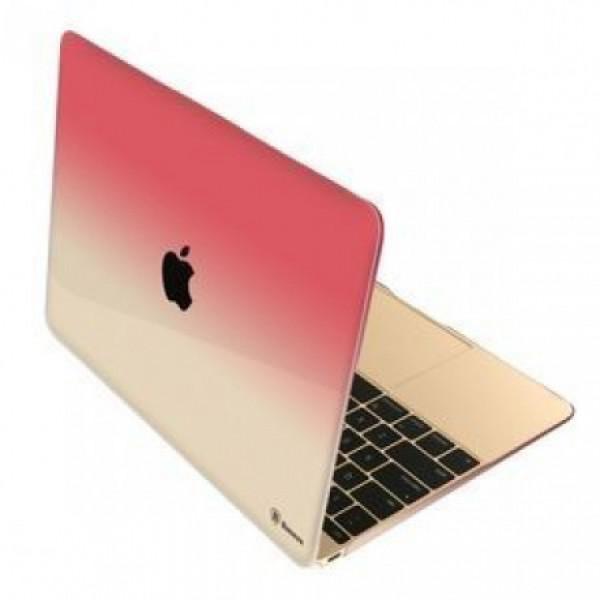 Чехол накладка MacBook 12  BASEUS Gradient (pink)