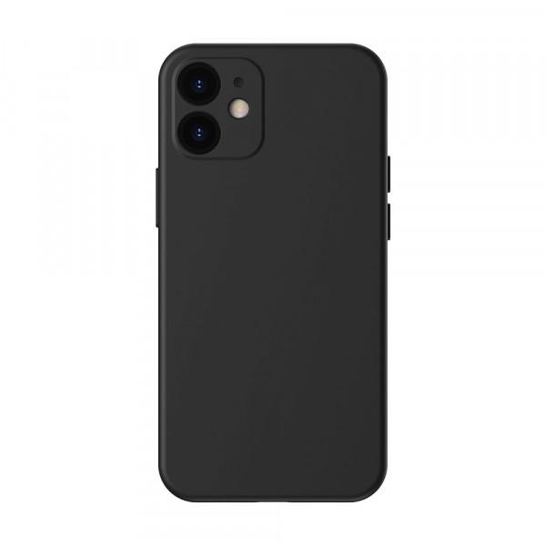 Чехол iPhone 12 mini Baseus Liquid Silica Gel (Black)