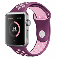 Ремешок-браслет для Apple Watch 42mm Silicone Nike Sport Band (fuchsia-pink)