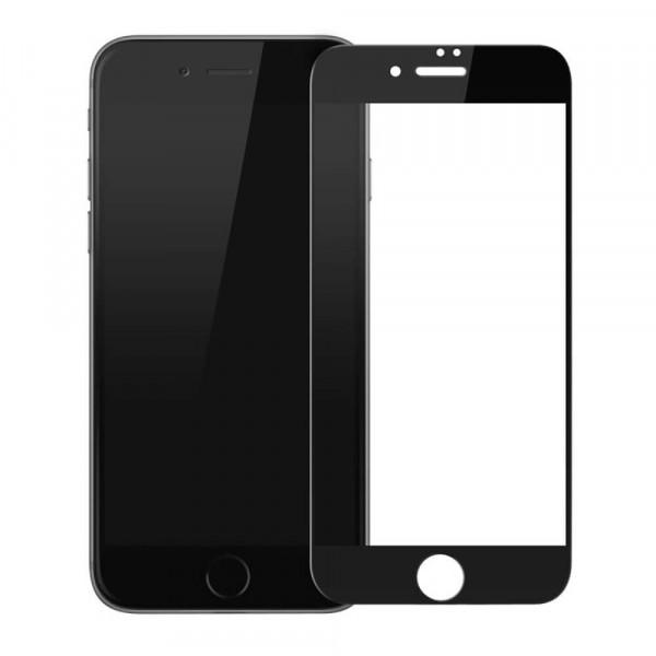Стекло защитное iPhone7\8  9Н 2,5D (black)